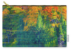 Carry-all Pouch featuring the photograph Autumn At Mccarston's Lake by Gary Hall