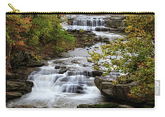 Carry-all Pouch featuring the photograph Autumn At The Falls by Dale Kincaid
