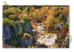 Carry-all Pouch featuring the photograph Autumn At Turner Falls by Joan Bertucci
