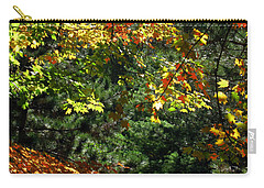 Carry-all Pouch featuring the photograph Autumn Backyard by Joan  Minchak