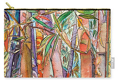 Carry-all Pouch featuring the painting Autumn Bamboo by Marionette Taboniar