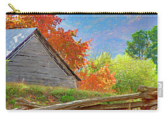 Autumn Barn Digital Watercolor Carry-all Pouch
