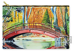 Carry-all Pouch featuring the painting Autumn Beauty by Tom Riggs