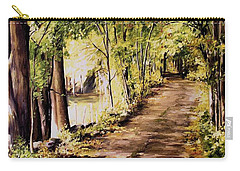 Carry-all Pouch featuring the painting Autumn Begins In Underhill by Laurie Rohner