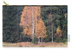 Autumn Birch By The Lake Carry-all Pouch by Michal Boubin