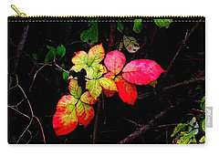 Autumn Blackberry Leaves Carry-all Pouch