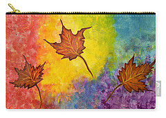 Autumn Bliss Colorful Abstract Painting Carry-all Pouch