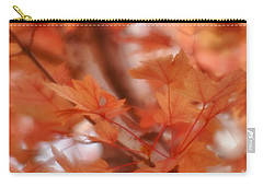 Carry-all Pouch featuring the photograph Autumn Blush by Diane Alexander