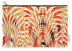 Carry-all Pouch featuring the digital art Autumn Botanical Tapestry by Ann Johndro-Collins