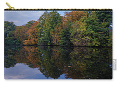 Carry-all Pouch featuring the photograph Autumn By The Pond by RKAB Works