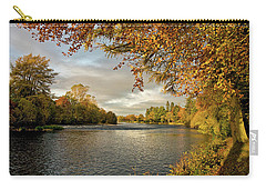 Carry-all Pouch featuring the photograph Autumn By The River Ness by Jacqi Elmslie