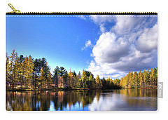 Carry-all Pouch featuring the photograph Autumn Calm At Woodcraft Camp by David Patterson