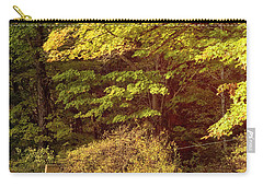 Carry-all Pouch featuring the photograph Autumn Cemetery by Tom Singleton