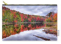 Carry-all Pouch featuring the photograph Autumn Color At The Pond by David Patterson
