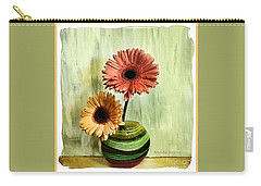 Autumn Colored Gerber Daisies Carry-all Pouch