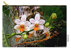 Autumn Colored Orchids Carry-all Pouch by Sue Melvin