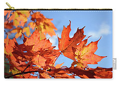 Carry-all Pouch featuring the photograph Autumn Colors 2 by Angie Tirado