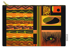 Carry-all Pouch featuring the photograph Autumn Colors Abstract by Brooks Garten Hauschild