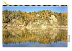 Carry-all Pouch featuring the photograph Autumn Colors On The North Saskatchewan River by Jim Sauchyn