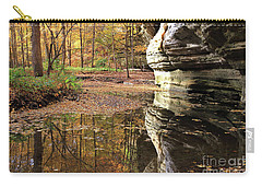 Autumn Comes To Illinois Canyon  Carry-all Pouch