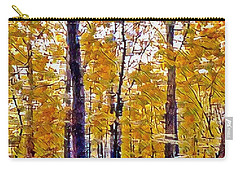 Autumn  Day In The Woods Carry-all Pouch