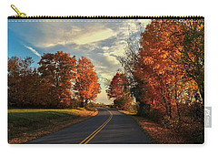 Carry-all Pouch featuring the photograph Autumn Drive by Kendall McKernon