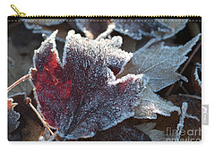 Carry-all Pouch featuring the photograph Autumn Ends, Winter Begins 2 by Linda Lees