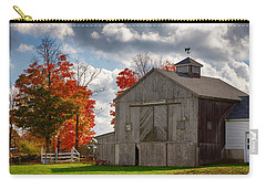 Autumn Fall Colors Turn Next To Grey Barn Carry-all Pouch