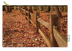 Carry-all Pouch featuring the photograph Autumn Fence by Angie Tirado