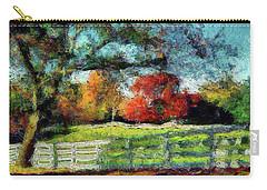 Autumn Field On The Farm Carry-all Pouch