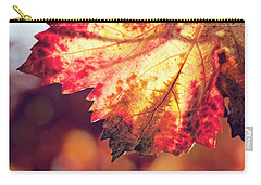 Carry-all Pouch featuring the photograph Autumn Fire by Melanie Alexandra Price