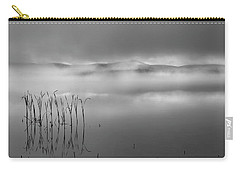 Carry-all Pouch featuring the photograph Autumn Fog Black And White by Bill Wakeley