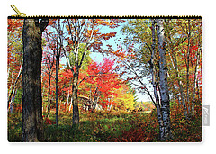 Carry-all Pouch featuring the photograph Autumn Forest by Debbie Oppermann