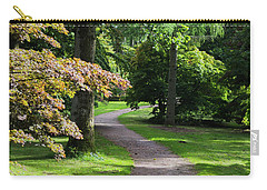Carry-all Pouch featuring the photograph Autumn Forest Path by Scott Lyons