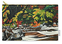 Carry-all Pouch featuring the painting Autumn Frost by Donna Blossom
