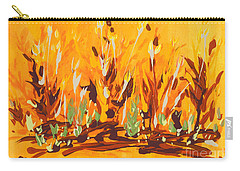 Carry-all Pouch featuring the painting Autumn Garden by Holly Carmichael