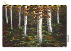 Carry-all Pouch featuring the digital art Autumn Ghosts by Amyla Silverflame
