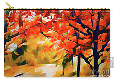 Glorious Foliage On The Rail Trail - Abstract Carry-all Pouch