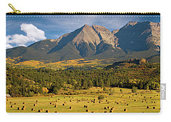 Autumn Hay In The Rockies Carry-all Pouch by Steve Stuller