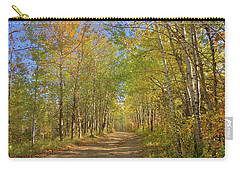 Carry-all Pouch featuring the photograph Autumn Hike by Jim Sauchyn