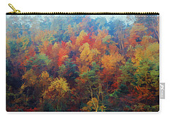Autumn Hill Aglow Carry-all Pouch by Diane Alexander