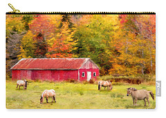 Autumn Horses Carry-all Pouch by Ken Morris