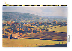 Carry-all Pouch featuring the painting Autumn In Mechelen by Nop Briex