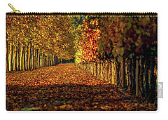 Carry-all Pouch featuring the pyrography Autumn In Napa Valley by Bill Gallagher
