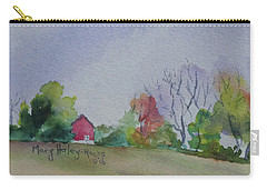 Carry-all Pouch featuring the painting Autumn In Rural Ohio by Mary Haley-Rocks