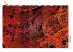 Carry-all Pouch featuring the digital art Autumn In Space Abstract Pano 1 by Andee Design