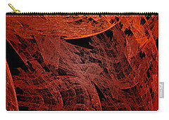 Carry-all Pouch featuring the digital art Autumn In Space Abstract Pano 2 by Andee Design