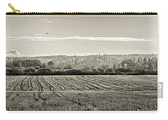 Autumn In The Countryside Bw Carry-all Pouch