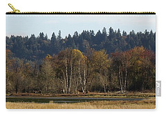 Carry-all Pouch featuring the photograph Autumn In The Nisqually Estuary  by I'ina Van Lawick