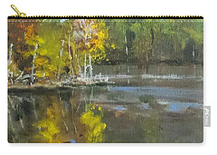 Carry-all Pouch featuring the painting Autumn In The Rock Quarry by Jim Phillips